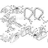 Stihl 028 Chainsaw (028) Parts Diagram, Cylinder/Muffler