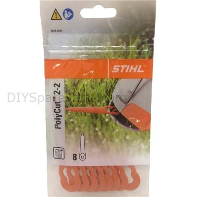 8 Kunststoffmesser Stihl Polycut für P2-2 4008 007 1000